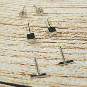 Kate Morgan Jewelry - 💎BOGO NWT Set of 3 Geometric Stud Earrings